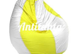Кресло мешок в желтую и белую полоску материал Оксфорд размер средний