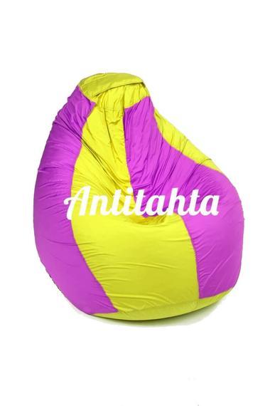 Кресло мешок в желтую и фиолетовую полоску материал Оксфорд размер средний