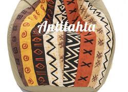 кресло мешок груша, материал оскфорд и испанский жаккард расцветка африка цвет бежевый
