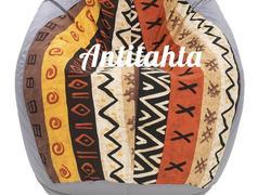 кресло мешок груша, материал оскфорд и испанский жаккард расцветка африка цвет серый