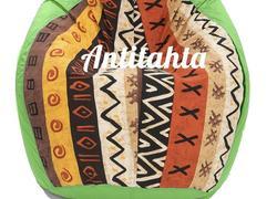 кресло мешок груша, материал оскфорд и испанский жаккард расцветка африка цвет зеленый
