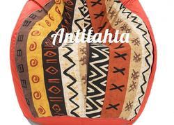 кресло мешок груша, материал оскфорд и испанский жаккард расцветка африка с красной подложкой