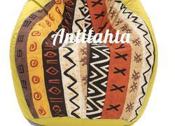 кресло мешок груша, материал оскфорд и испанский жаккард расцветка африка желтого цвета