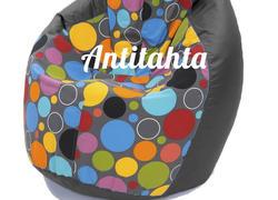 Кресло мешок груша, материал оксфорд и жаккард расцветка боро-боро подложка черная
