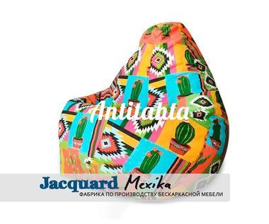 Кресло груша мешок, материал испанский жаккард оформление мексика