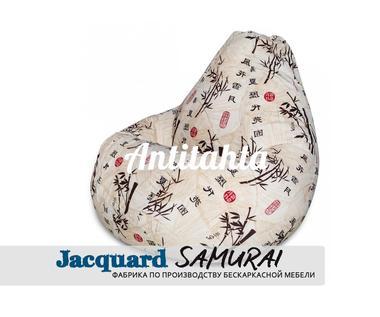 кресло груша мешок, материал испанский жаккард оформление самурай