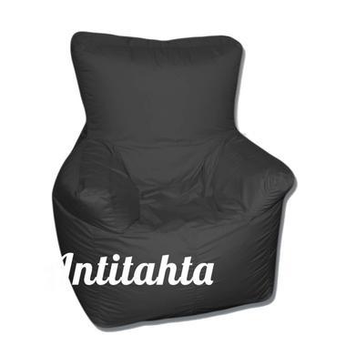 кресло мешок комфорт материал оксфорд цвет черный с фиксированной спинкой
