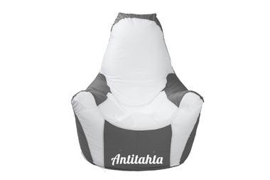кресло мешок relax материал оксфорд цвет серый с фиксированной спинкой