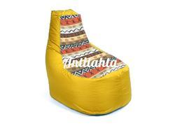 Кресло банан из материалов оксфорд и жаккард расцветка Африка  желтого цвета