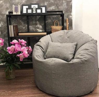кресло мешок комфорт материал микровельвет цвет серый