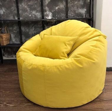 кресло мешок комфорт материал микровельвет цвет желтый
