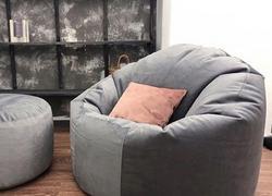 Кресло Комфорт цвет Серый ткань внешнего чехла Микровельвет